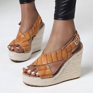 Women's Buckle Slingbacks Wedge Heel Sandals_3