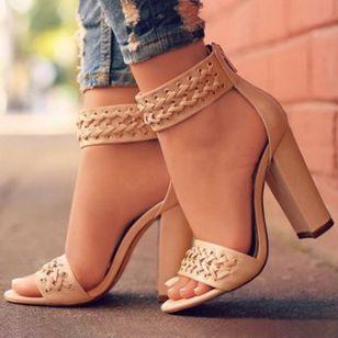 Women's Heels Leatherette Chunky Heel Sandals_2