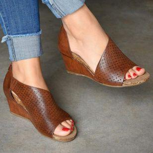 Women's Zipper Heels Wedge Heel Sandals_2