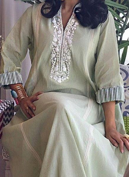 Jade Vintage Floral Tunic V-Neckline A-line Dress_1