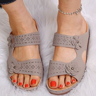 Women's Flower Slingbacks Flat Heel Sandals_6