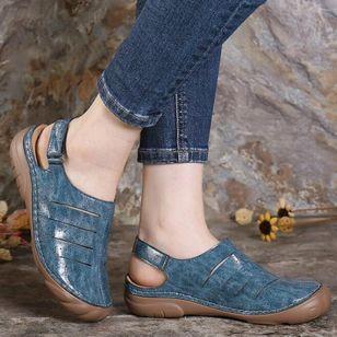 Women's Velcro Slingbacks Flat Heel Sandals_1