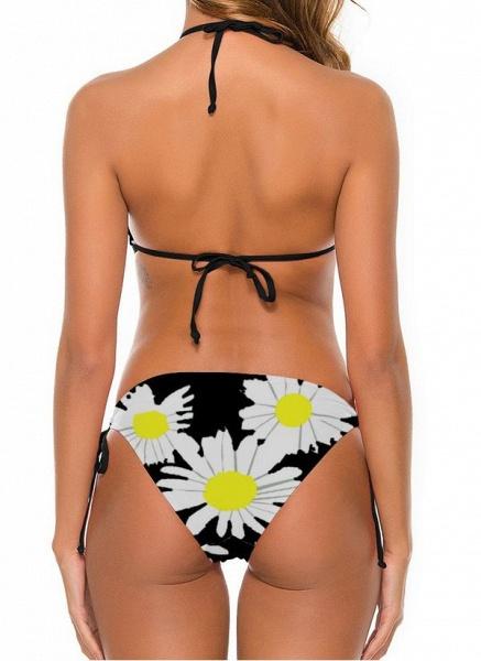 Nylon Halter Floral Bikinis Swimwear_6