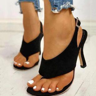 Women's Buckle Slingbacks Flip-Flops Stiletto Heel Sandals_6