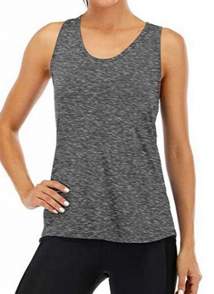 Women's Athletic Casual Sporty Polyester Yoga Vest Fitness & Yoga_5