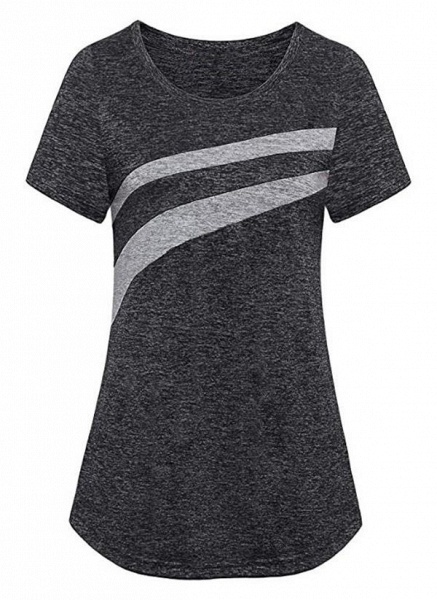 Women's Athletic Casual Sporty Polyester Yoga T-shirt Fitness & Yoga_7