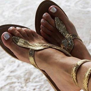 Women's Lace-up Slingbacks Flat Heel Sandals_1