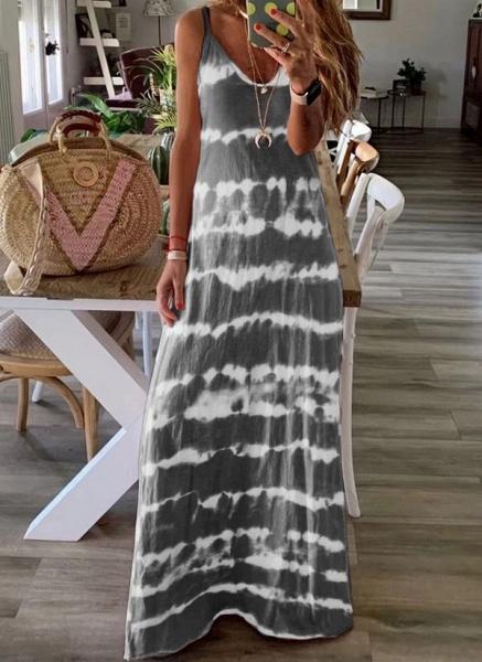 Casual Color Block Slip Camisole Neckline Shift Dress_2