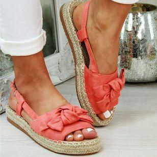 Women's Slingbacks Cloth Flat Heel Sandals Platforms_2