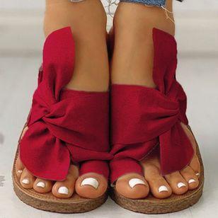 Women's Bowknot Flats Cloth Flat Heel Sandals_13