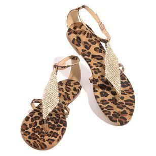 Women's Crystal Flip-Flops Flat Heel Sandals_12