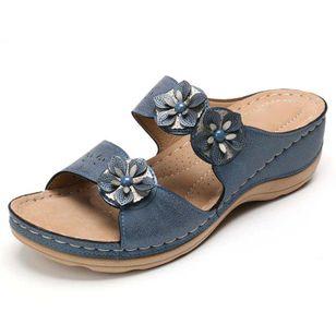 Women's Flower Slingbacks Wedge Heel Sandals_2