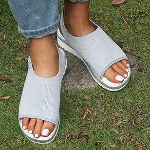Women's Slingbacks Fabric Wedge Heel Sandals_8