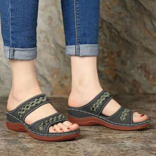 Women's Hollow-out Flats Low Heel Sandals_2
