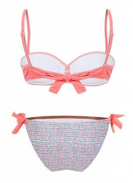 Polyester Color Block Bikinis Swimwear_1