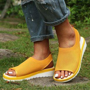 Women's Slingbacks Fabric Wedge Heel Sandals_3