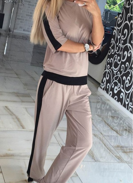 Women's Athletic Casual Polyester Fitness Clothing Suit Fitness & Yoga_1