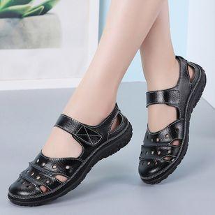 Women's Hollow-out Flats Flat Heel Sandals_2