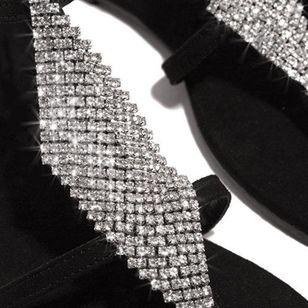 Women's Crystal Flip-Flops Flat Heel Sandals_3