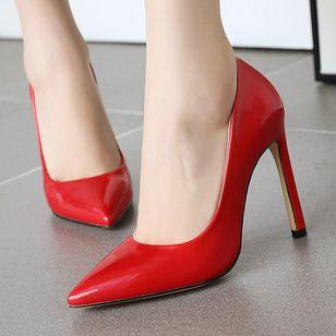 Women's Pointed Toe Heels Patent Leather Stiletto Heel Sandals_10
