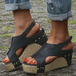 Women's Slingbacks Wedge Heel Sandals Platforms_4