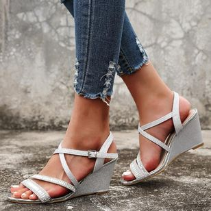 Women's Buckle Slingbacks Wedge Heel Sandals Wedges_2