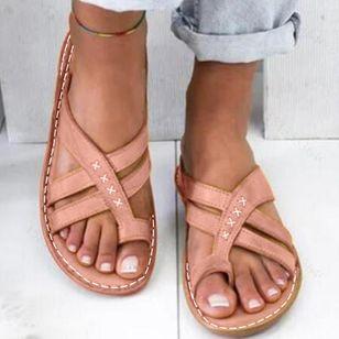 Women's Geometric Flats Flat Heel Sandals_7