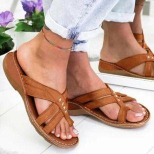 Women's Geometric Flats Flat Heel Sandals_3