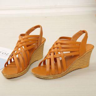 Women's Slingbacks Wedge Heel Sandals_4