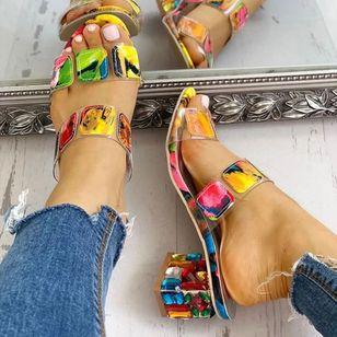 Women's Crystal Heel Slingbacks Chunky Heel Sandals_1
