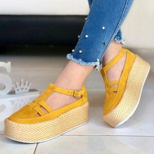 Women's Buckle Round Toe Flat Heel Sandals_2