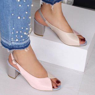 Women's Buckle Slingbacks Chunky Heel Sandals_7