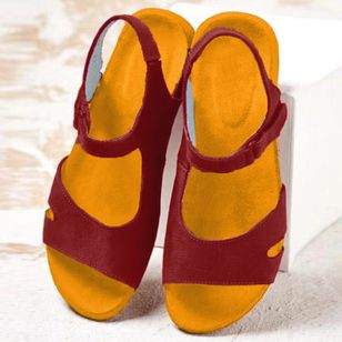 Women's Flats Nubuck Flat Heel Sandals_1