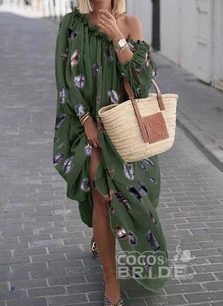 Black Plus Size Color Block Round Neckline Casual Maxi Shift Dress Plus Dress_2