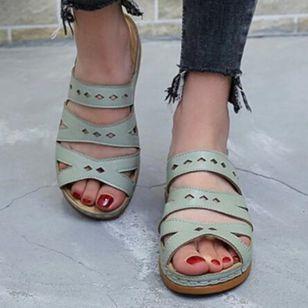 Women's Hollow-out Slingbacks Wedge Heel Sandals_3