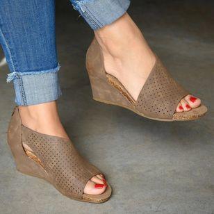 Women's Zipper Heels Wedge Heel Sandals_3