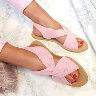 Women's Slingbacks Cloth Flat Heel Sandals Flats_6