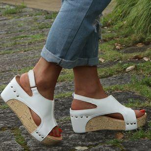 Women's Slingbacks Wedge Heel Sandals Platforms_6