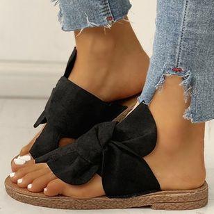 Women's Bowknot Flats Cloth Flat Heel Sandals_4