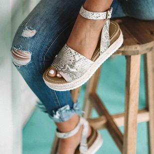 Women's Flats Cloth Flat Heel Sandals_3