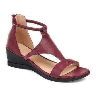 Women's Zipper Round Toe Wedge Heel Sandals_5
