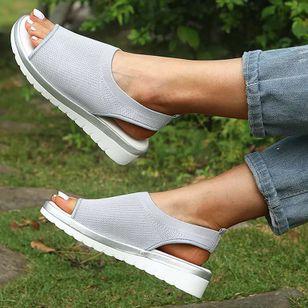 Women's Flats Cotton Flat Heel Sandals_2