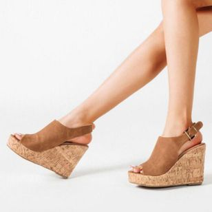 Women's Buckle Ankle Strap Peep Toe Wedge Heel Sandals_7