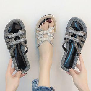 Women's Rhinestone Flats Flat Heel Sandals_2