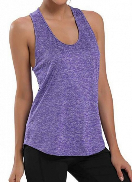 Women's Athletic Casual Polyester Yoga Vest Fitness & Yoga_8