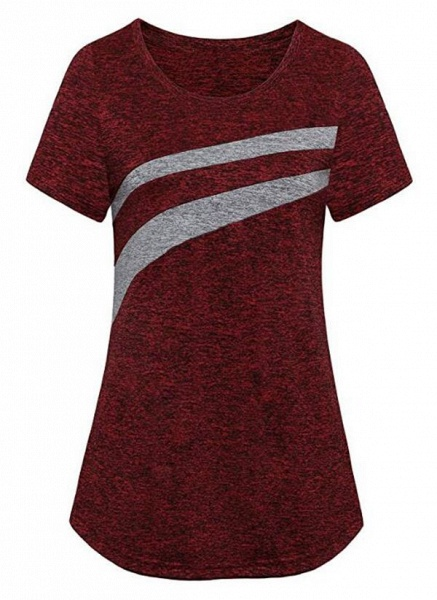 Women's Athletic Casual Sporty Polyester Yoga T-shirt Fitness & Yoga_5