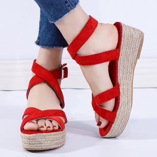 Women's Buckle Slingbacks Nubuck Low Heel Sandals Platforms_3
