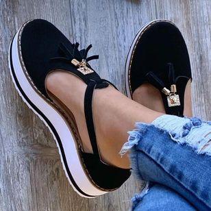 Women's Tassel Closed Toe Flat Heel Sandals_2