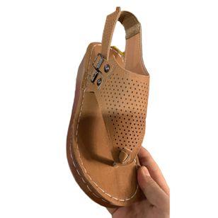 Women's Buckle Flip-Flops Wedge Heel Sandals_1