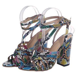 Women's Ankle Strap Modern Chunky Heel Sandals_3